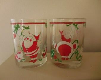 Georges Briard Christmas Santa Tumblers