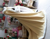 "RESERVED Custom Listing for""Holly N."" Victorian Bridal Cape 52/73-inch Gold / Ivory  Satin Wedding Cloak with Fur Trim Handmade in USA"