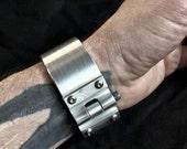 Raw Machined Aluminum Cuff