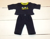 Navy Fleece Pants and Navy Tshirt - 14 - 15 inch boy doll clothes
