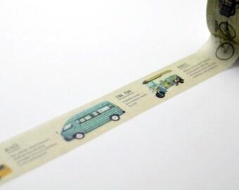 Limited Edition mt Japanese Washi Masking Tape set - mt Expo 2015 Kobe - mt's Vehicles 15mm