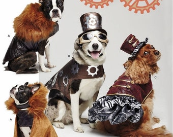 Steampunk Doggy Pattern, Dog Costume Coats and Hats Pattern, Simplicity Sewing Pattern 1031