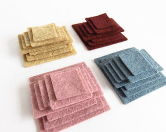Mini Mosaic Wool Felt Die Cut Shapes Pack.