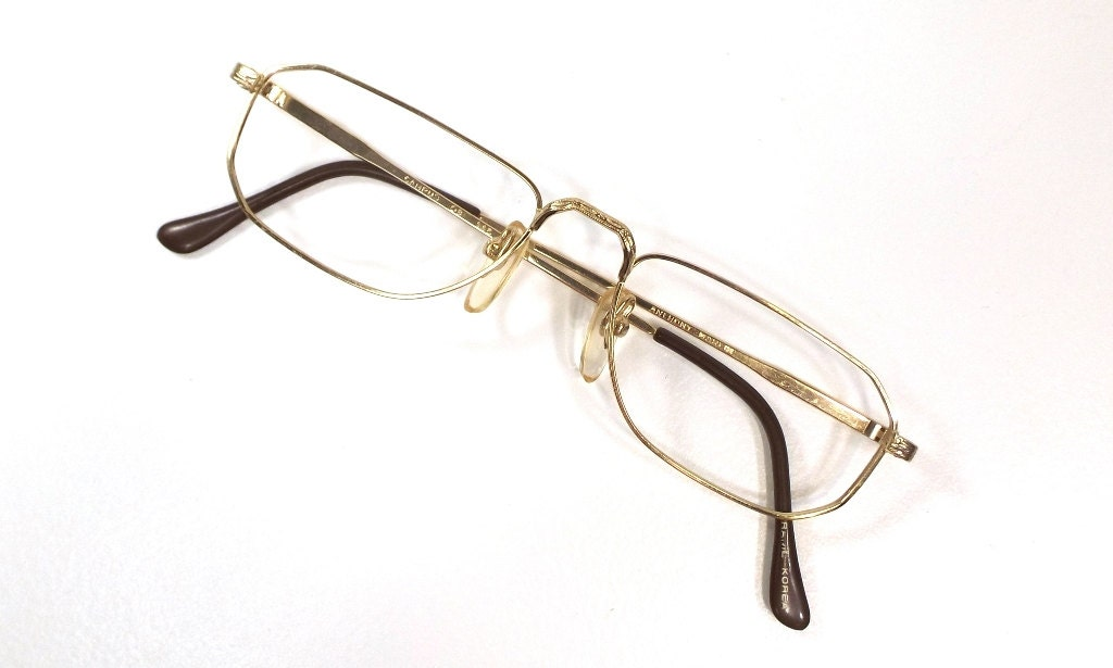 0afd0b6d85 gold eyeglass frames vintage eyeglasses retro eyewear men eye glasses women  metal frame glasses size 52