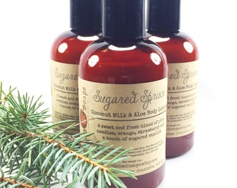Sugared Spruce Body Lotion - Coconut Milk & Aloe Body Lotion with Cocoa Butter
