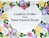 Custom Order for C:  Hand Painted, Personalized Pet Memory Box with Quote - Floral Design in Purple and Blue