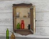 vintage cabinet - wood cabinet -Medicine Cabinet