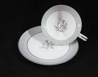 Noritake China Theme Tea Cup & Saucer Circa 1950's