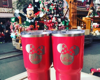 Custom Disney RTIC, YETI vacuum insulated tumbler, powder coated and laser engraved/etched