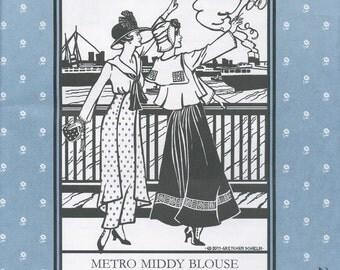 Metro Middy Blouse Folkwear Pattern 270
