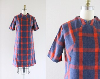 S A L E cotton shift dress / 1960's