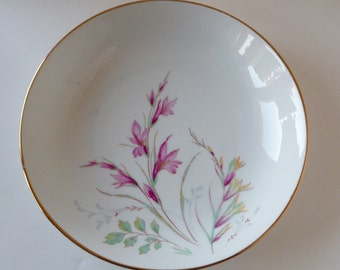 Edelstein Bavaria China Alamedo Soup Plate Bowl Coupe Mid Century Germany Floral Spray
