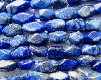 Lapis Lazuli Smooth Cut Brick (Quality B) / 4x6 to 4.50x6.50 mm / 36 cm / LA-120