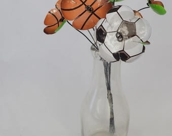 Unique Sports Balls Bouquet of Tin Forever Blooming Flowers