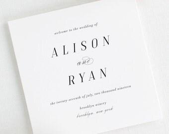 Alison Wedding Programs - Deposit