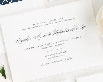 Upscale Script Wedding Invitation - Sample