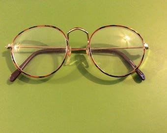 Vintage Eyeglasses with Tortoiseshell rims, Metal Rim glasses, Vintage Eyewear, 1980s
