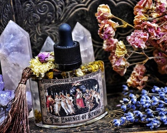 The Essence of Spring~ Ostara Ritual Oil  ~ Natural Perfume ~ Herbal Infusions ~ Spring Floral ~ Spring~ Ritual Perfume ~Large 1oz bottle