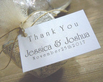 Thank You Favor Tags with Bride and Grooms Names