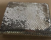 Silver Mesh Wallet Made in Belgium Gently Used Whiting and Davis Style