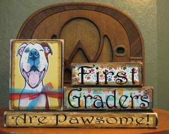 Teacher Gift, Teacher Sign - Personalized Teacher Name Sign, name plate, customized, end of year gift