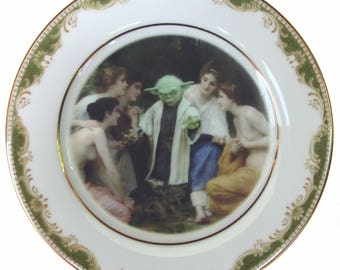 """Yoda and the Nymphs Portrait Plate 6.4"""""""