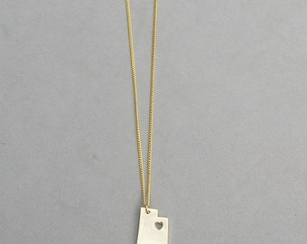 I Heart Utah Gold Plated Necklace