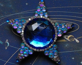 YOU PICK, star, star necklace, glittery star, upcycle, magical, shining stars, stardust, sparkle, necklace. pendant, blue, yellow, green
