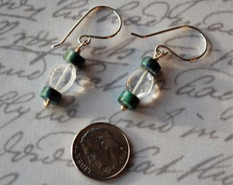 Clearance-Turquoise and agate on Sterling Silver Earrings