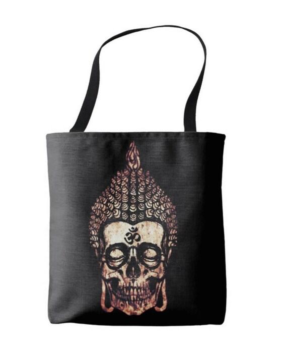 Buddha Skull Tote Bag