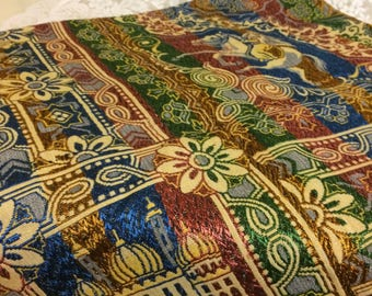 Beautiful  Silk Middle Eastern Throw 50x50