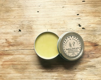 Organic Healing Salve Horsetail Comfrey Nettle Calendula Yarrow 2oz for fast healing of cuts scrapes burns bug bites and bruises