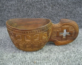 Hand carved wooden cup  Yugoslovia