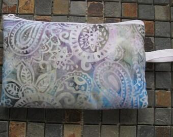 paisley print batik print large padded bag