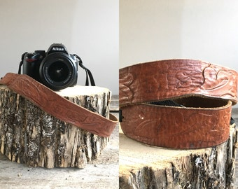 Vintage Camera Strap  //  Leather Camera Strap //  THE MS
