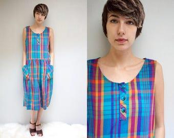 Plaid Cotton Dress  //  Oversized Babydoll Dress  //  THE ZEPHYR