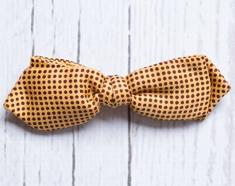 vintage 1950s men's polka dot bow tie