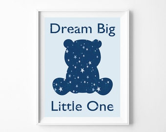 Dream Big Little One  Nursery Art,  Nursery Wall Art, Nursery Decor, Stars, Nursery Decor, Gift for new mom, Trending Items, Trending Now