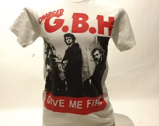 Vintage Charged G.B.H.Give Me Fire 80's Tee Shirt (ds-ts-22)