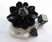 Dreaming of Deep Ones Kanzashi Dice Hair Flower Cthulhu D10 Hair Clip