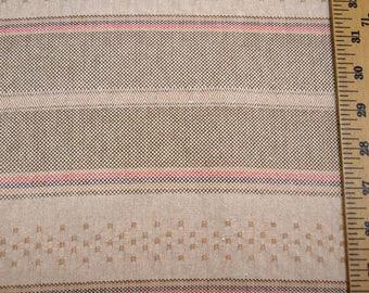 Neutral Horizontal Stripe Fabric