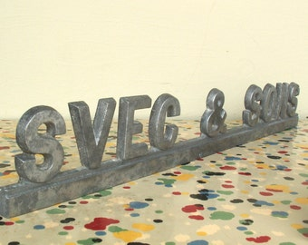 Pair of Vintage Svec and Sons Funeral Home Hearse Nameplates