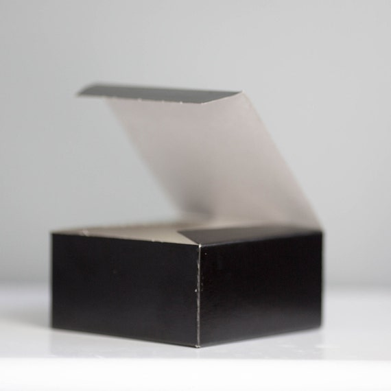 50- 4x4x2 inch Black Gift Box, Black Tie Event Favor Box, New Years Eve Box, Little Black Box, Valentines Day Gift Box