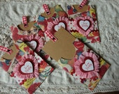 Vintage Style Valentine paper tags Pocket gift tag Be my Valentine gift tags paper cute children Vintage style Be My valentines