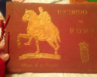 Vintage Rome Italy Souvenir Book