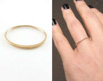 Thin gold ring | solid gold stack ring | 1mm gold ring | solid gold thin ring | rose gold stacking ring | gold stack ring | rose gold ring