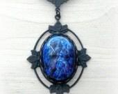 Fire Opal Jewelry Victorian Necklace Assemblage Jewelry Glass Pendant Fire Opal Necklace Dragons Breath Opal Cameo Jewelry Valentine Jewelry