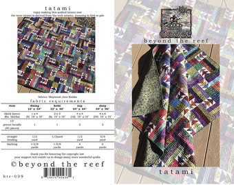 Tatami from Beyond the Reef Quilt Pattern - Modern