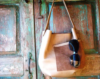 Tan Leather Hide leather Hobo