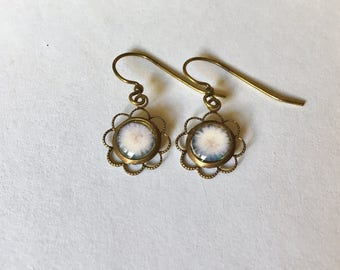 Leelanau Dandelion - Vintage Photograph Earrings